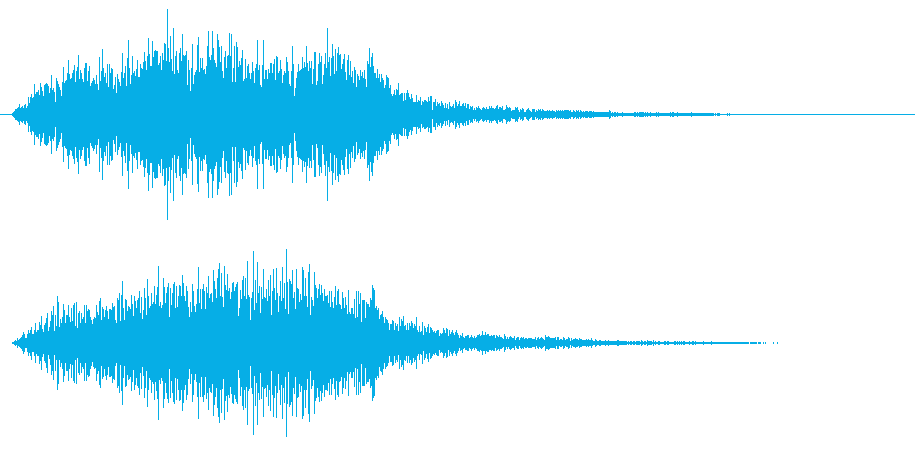 ストリングス不協和音 ホラーや恐怖の演出の再生済みの波形