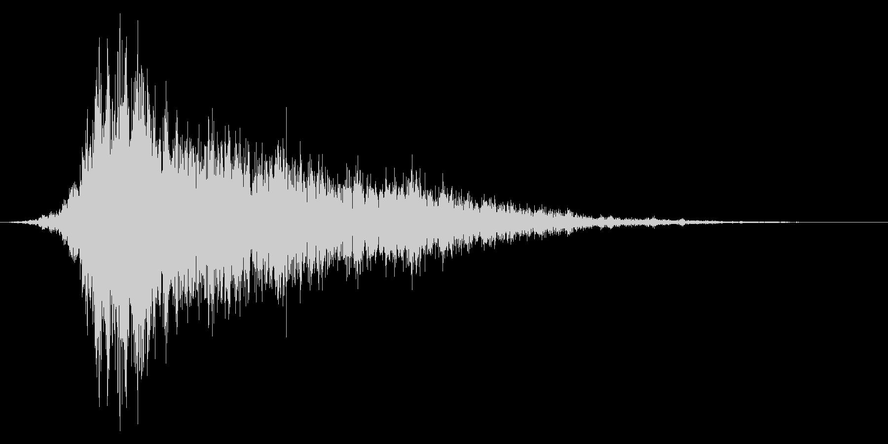 シュイーン(ワープ音など)の未再生の波形