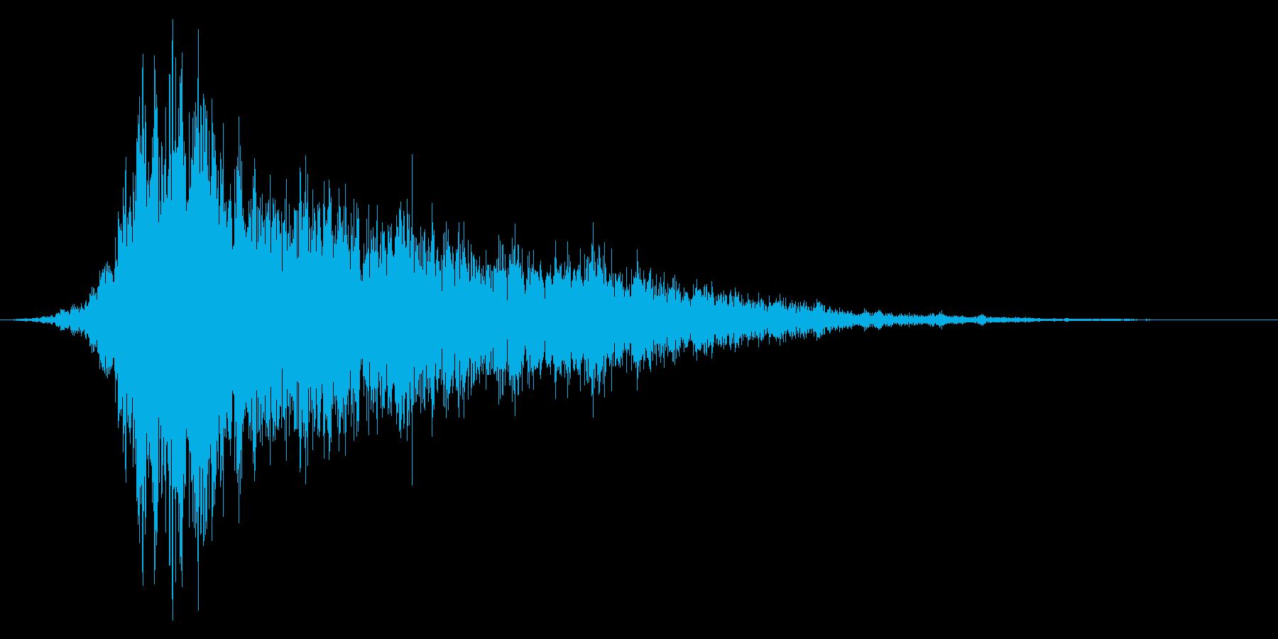 シュイーン(ワープ音など)の再生済みの波形