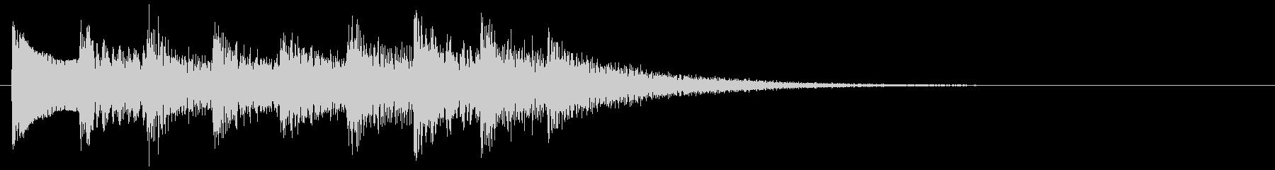 和風な演出 和風効果音 琴 場面転換 Dの未再生の波形