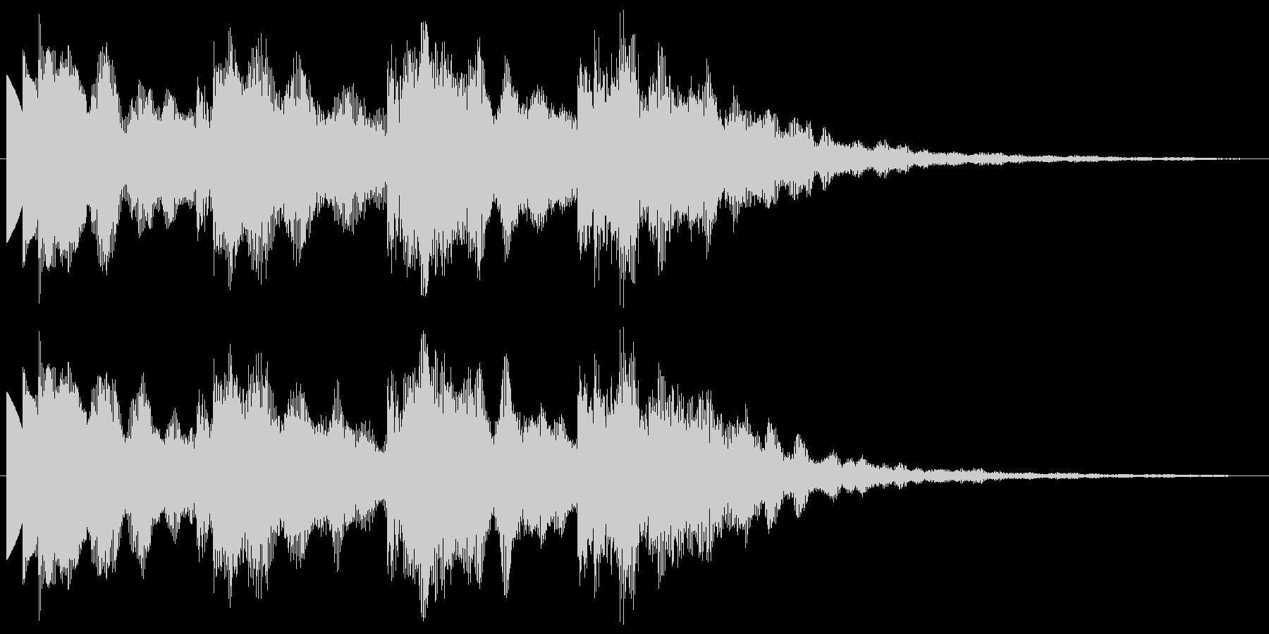 ポップ 優しく煌びやかな音 サウンドロゴの未再生の波形