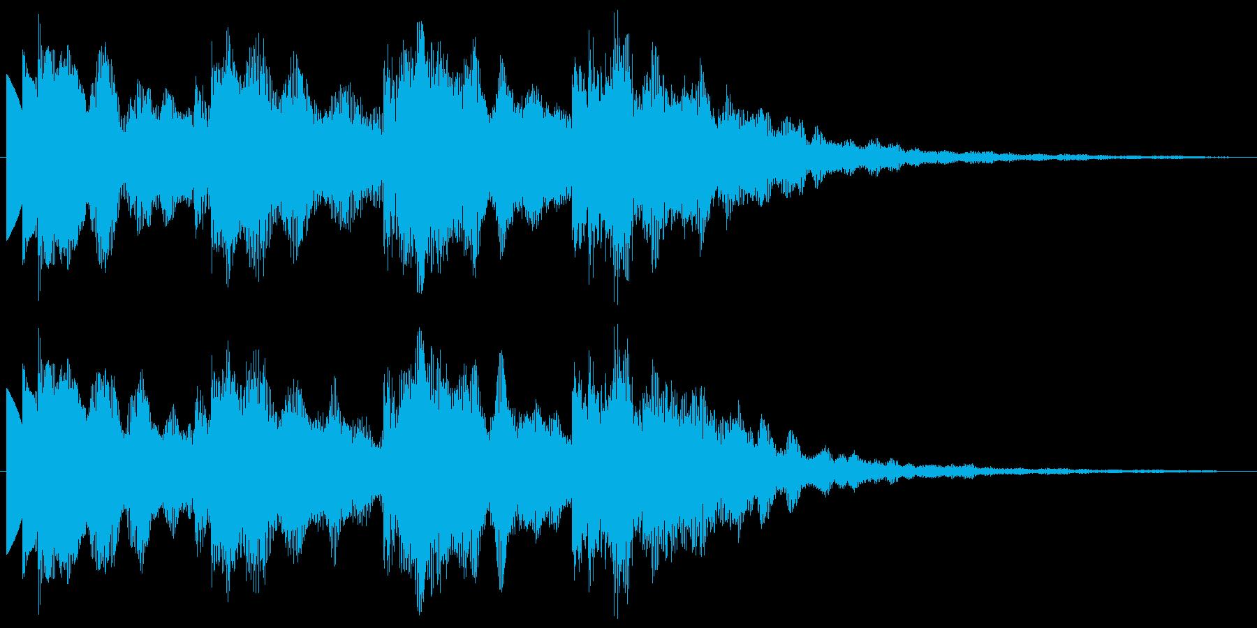 ポップ 優しく煌びやかな音 サウンドロゴの再生済みの波形