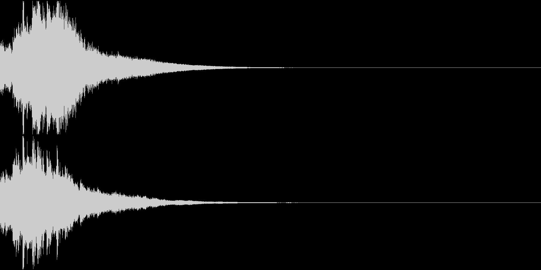 クリスマス ジングルベル キラキラ 04の未再生の波形