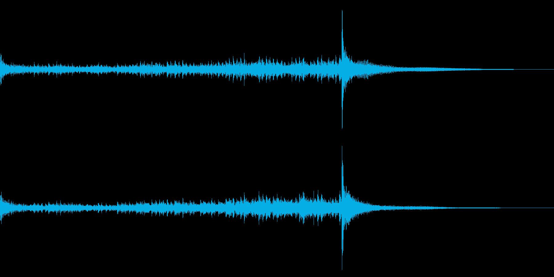ティンパニーロール☆ロング1の再生済みの波形