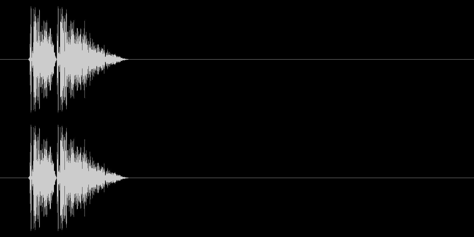 打撃08-2の未再生の波形