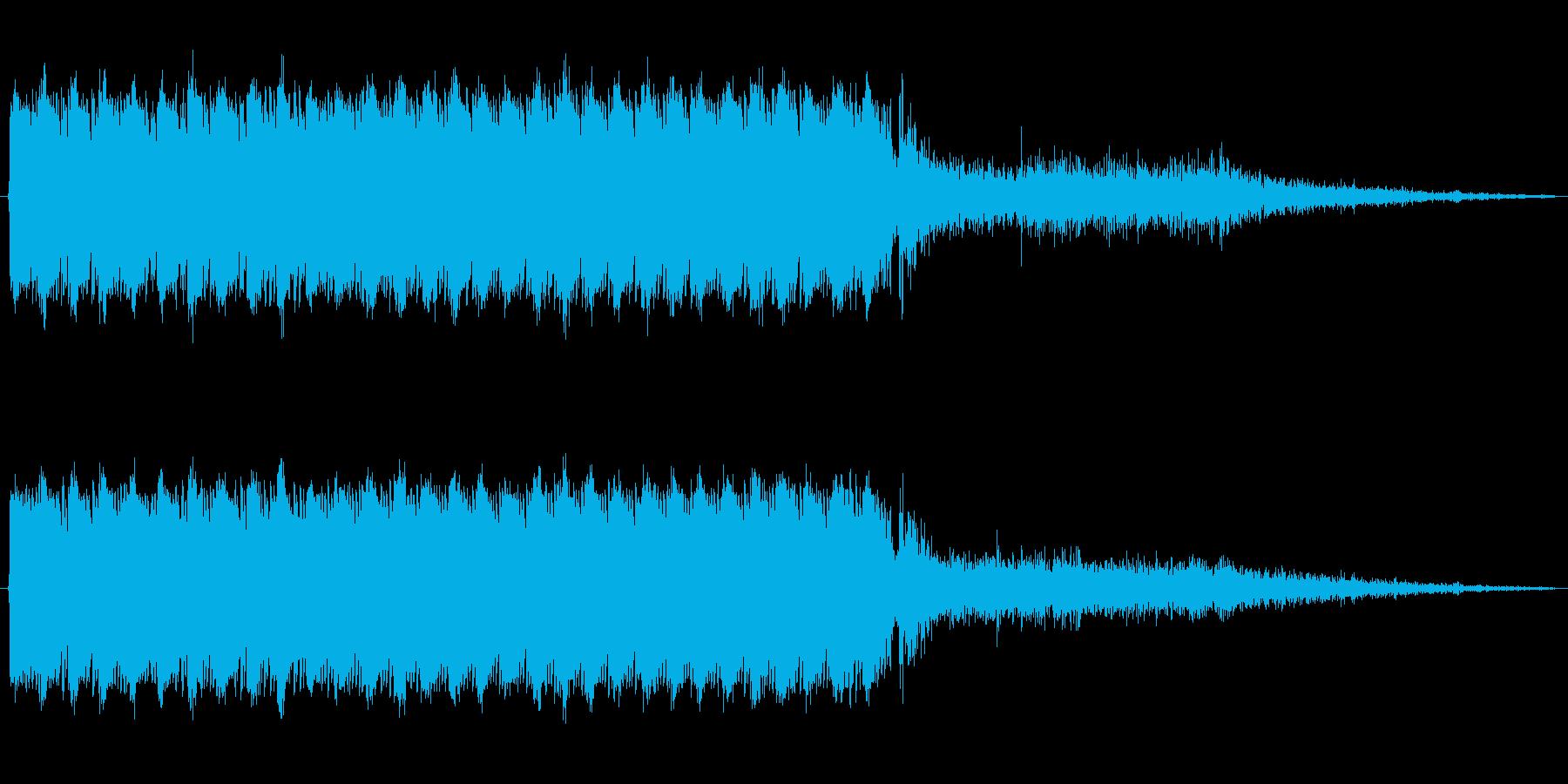 ライフルの連射音の再生済みの波形