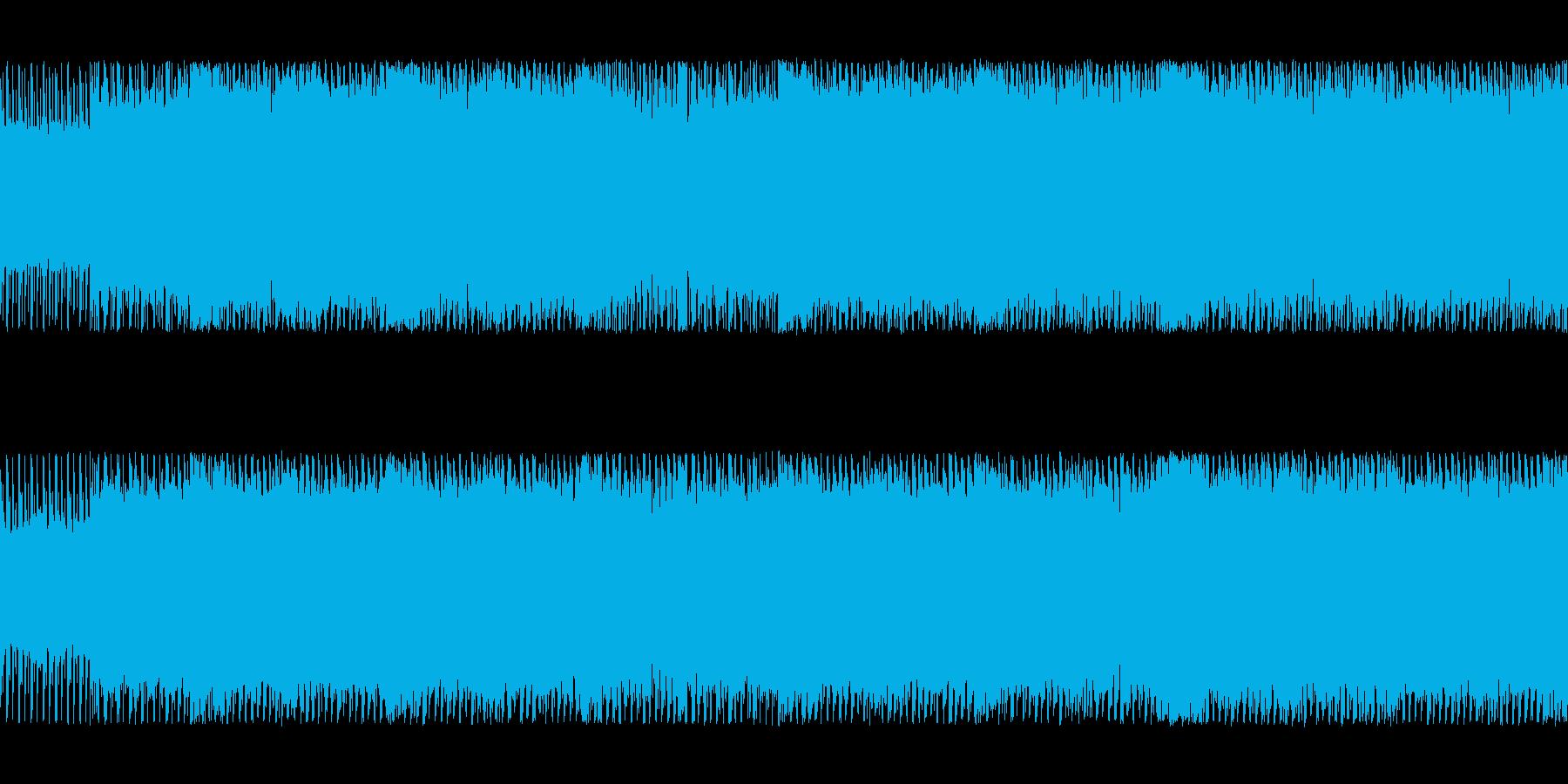 シリアスな四つ打ちチップチューンサウンドの再生済みの波形