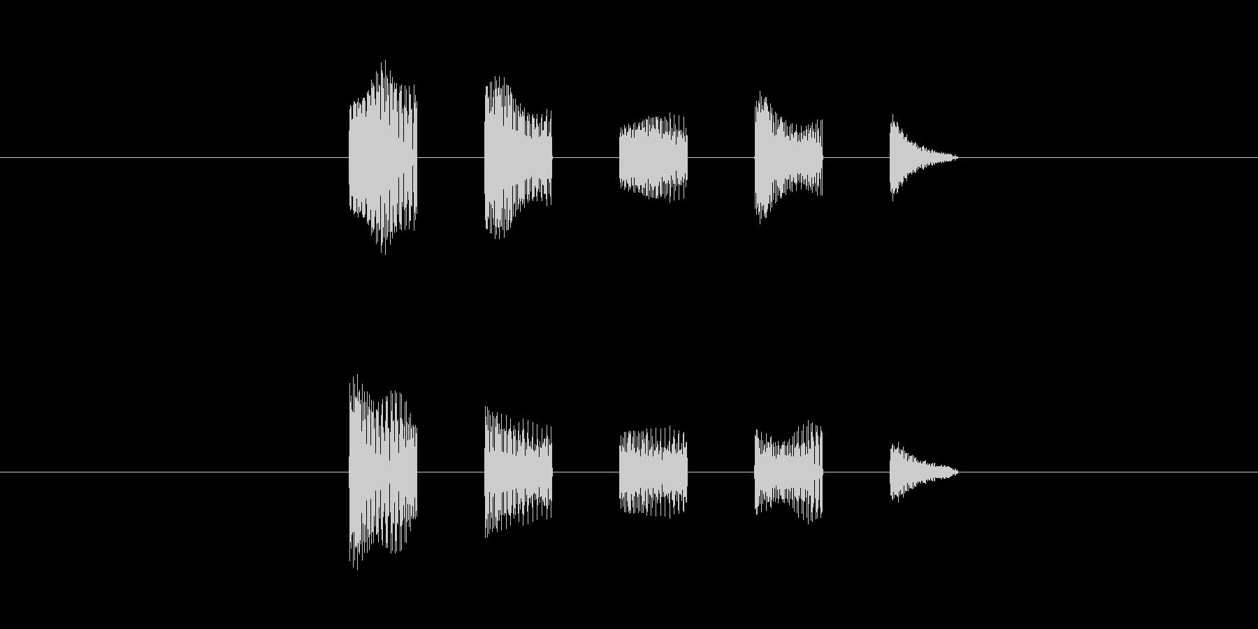 機械の会話音(低め)の未再生の波形