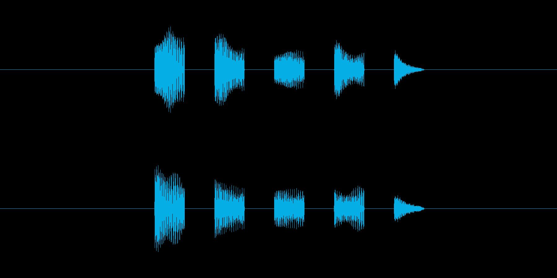 機械の会話音(低め)の再生済みの波形