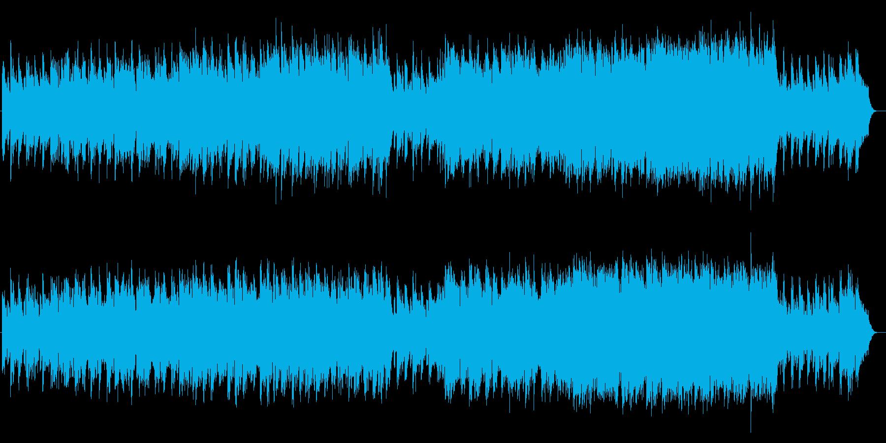 切ないシンセサイザーバラード系サウンドの再生済みの波形