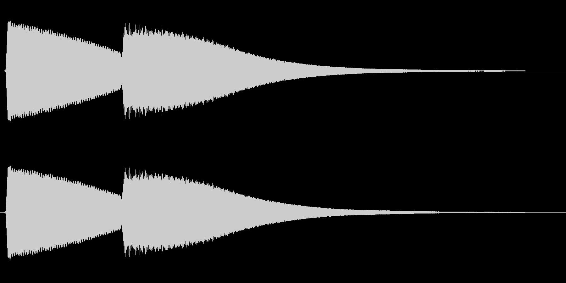 チンカーン(電子音)の未再生の波形