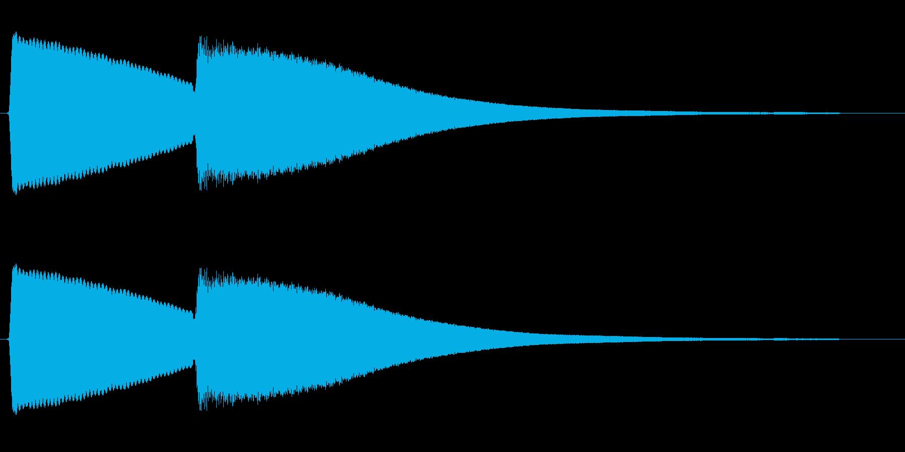 チンカーン(電子音)の再生済みの波形