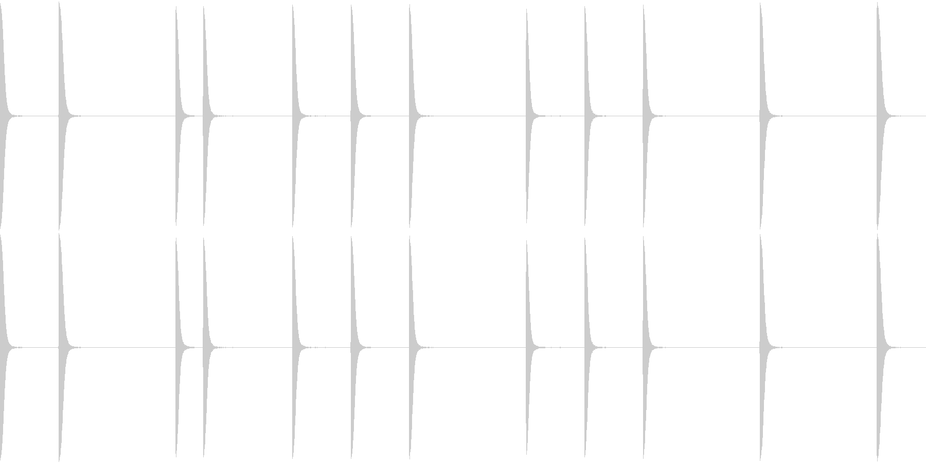 EDM PluckLoop6 DRY音の未再生の波形