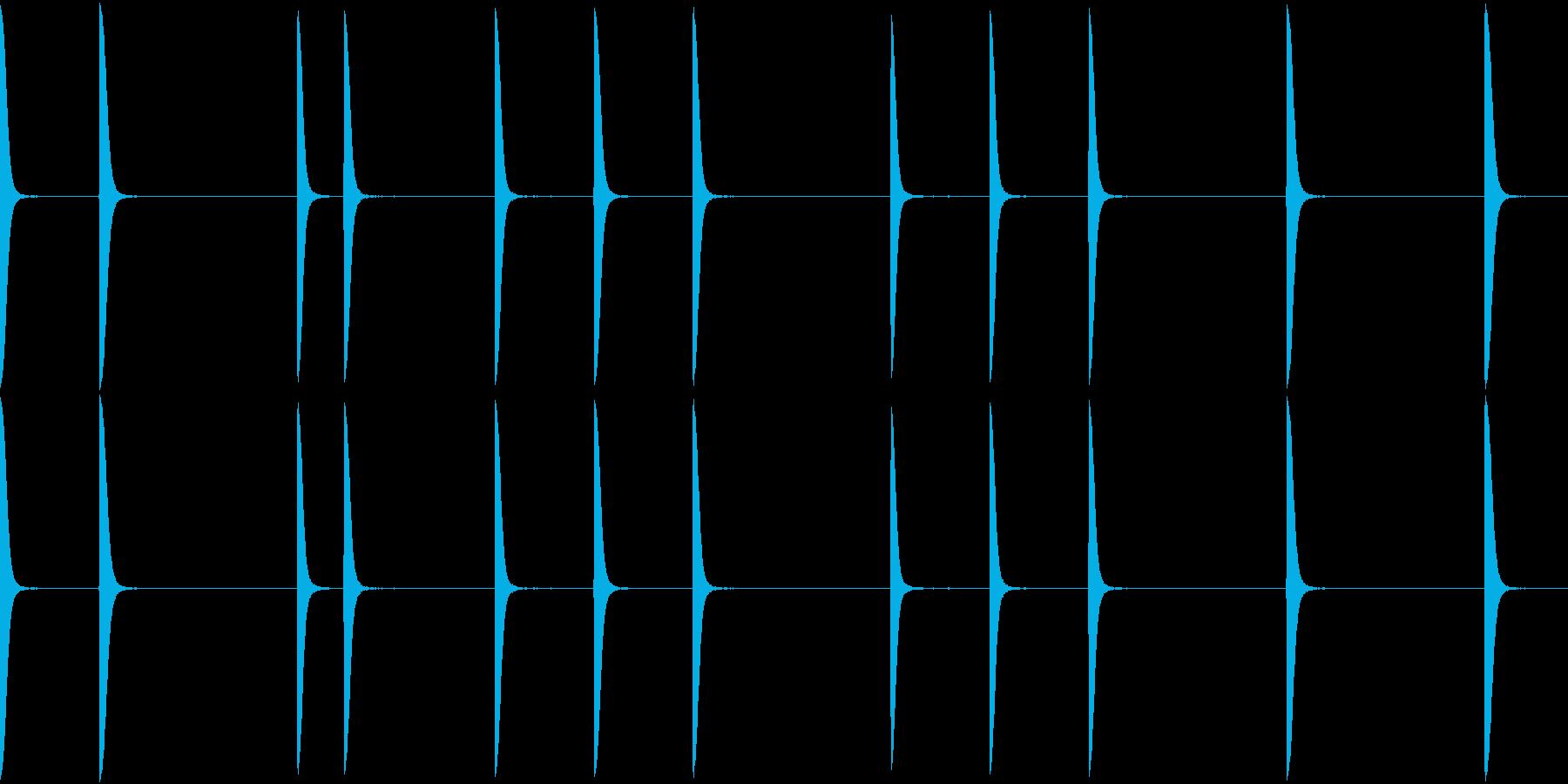 EDM PluckLoop6 DRY音の再生済みの波形