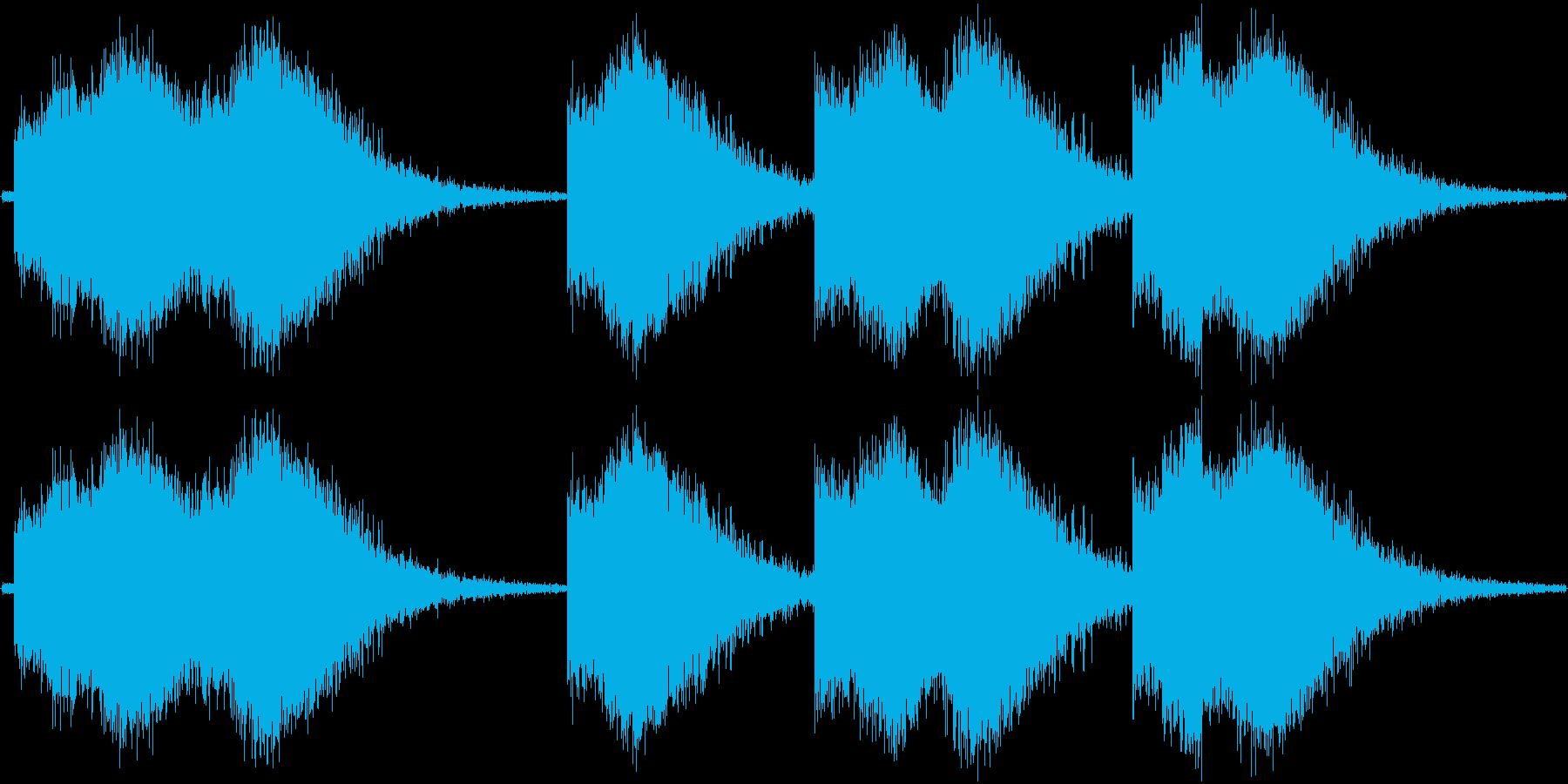 ぴしゃーん。高めの雷の音その2です。1…の再生済みの波形