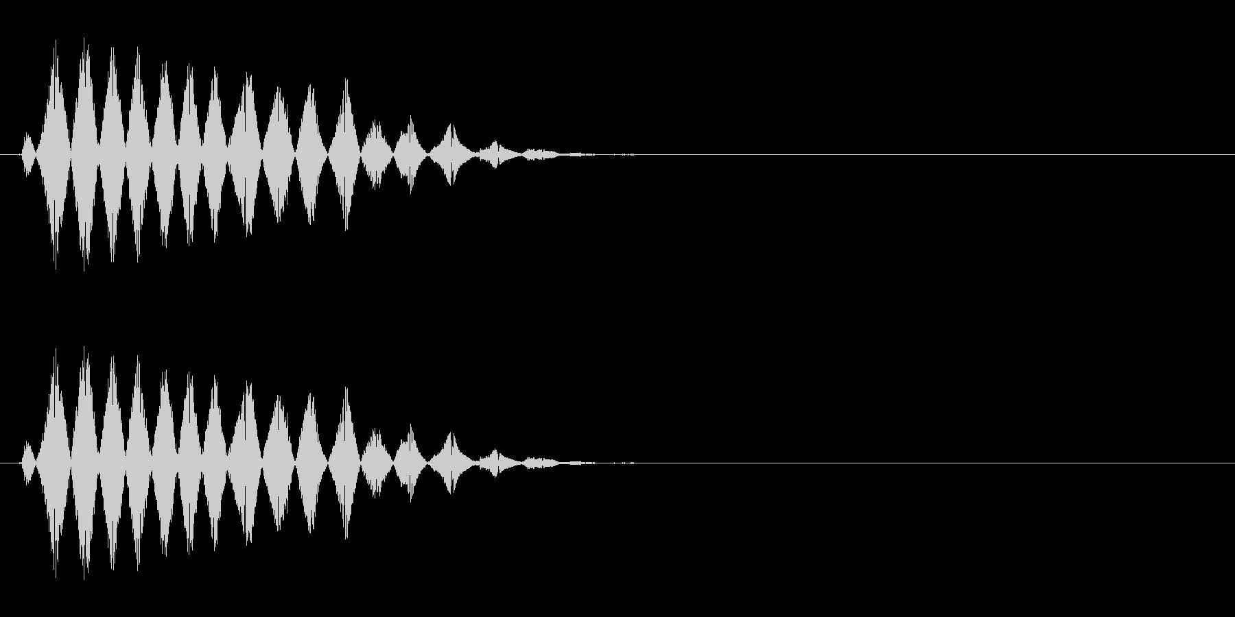 コミカルなおばけの声(ピッチ高め)の未再生の波形