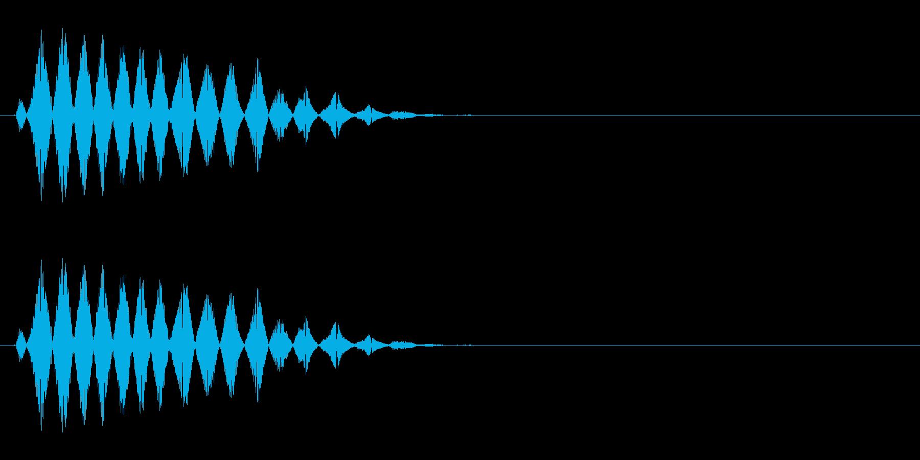 コミカルなおばけの声(ピッチ高め)の再生済みの波形