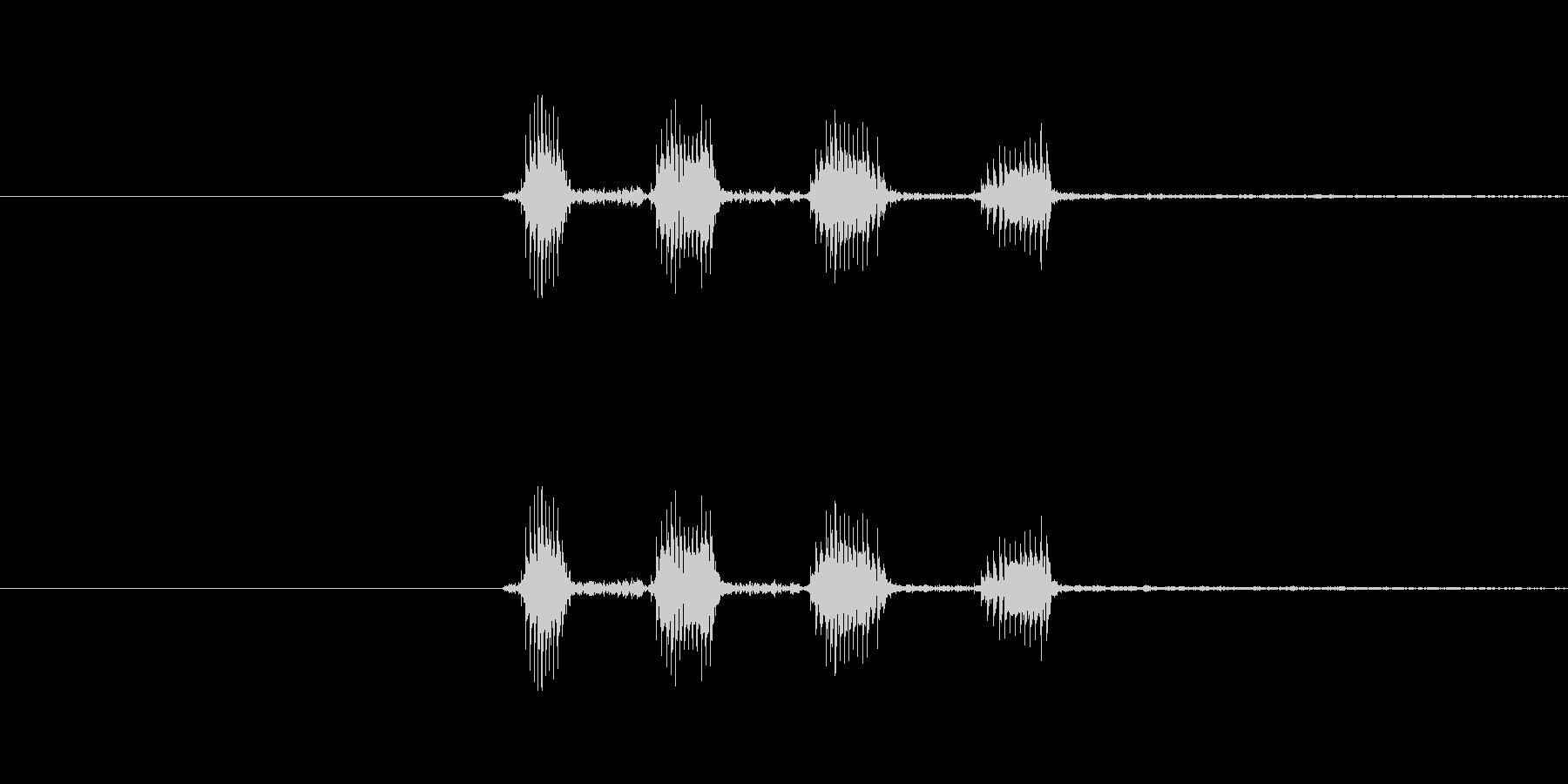 キャラクターの笑い声(キャハハ)中程音の未再生の波形