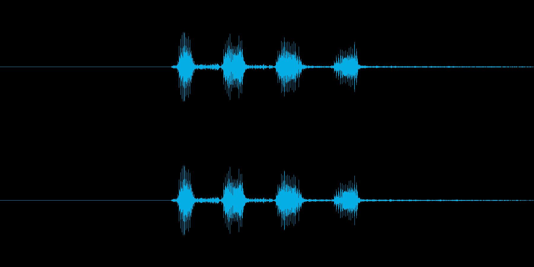 キャラクターの笑い声(キャハハ)中程音の再生済みの波形
