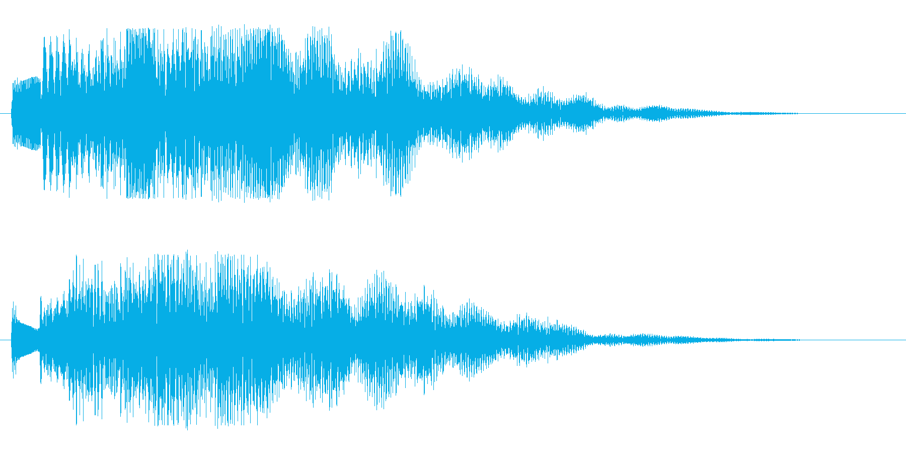 癒し系のジングルです。の再生済みの波形