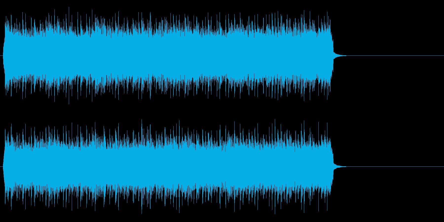 風が駆け抜けるロック(サビ)の再生済みの波形