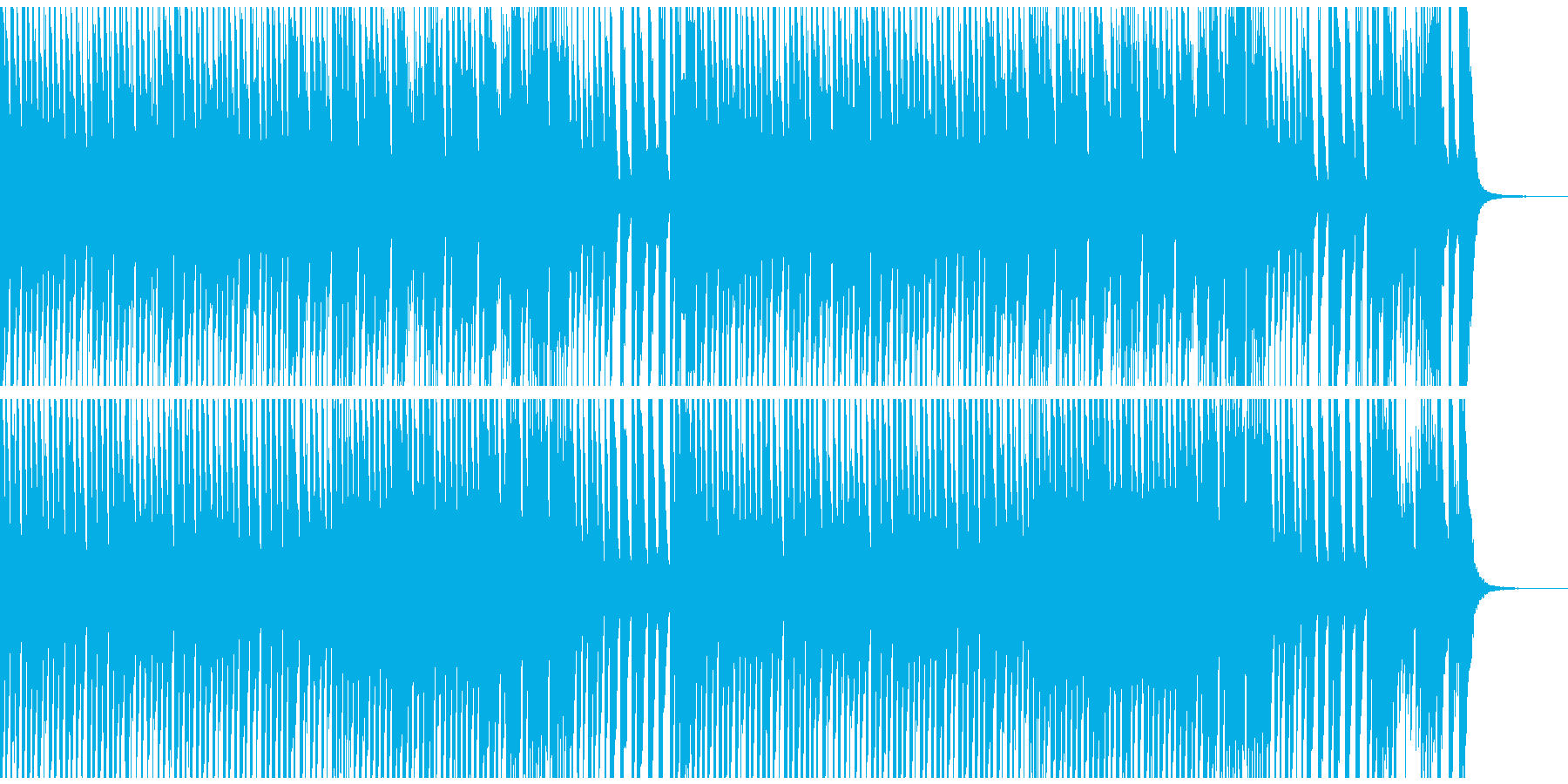 CMやシンキングタイムに コミカルBGMの再生済みの波形