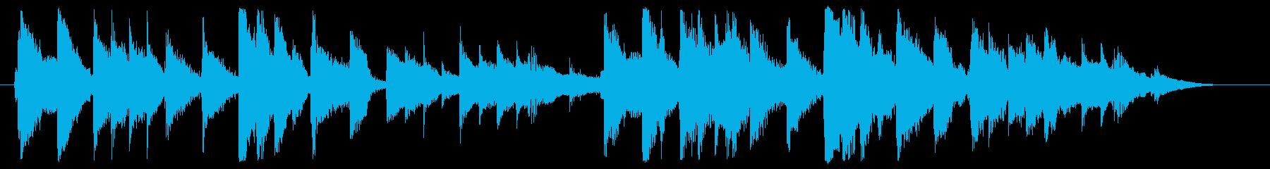 ガットギターをメインに朝の小鳥のイメー…の再生済みの波形