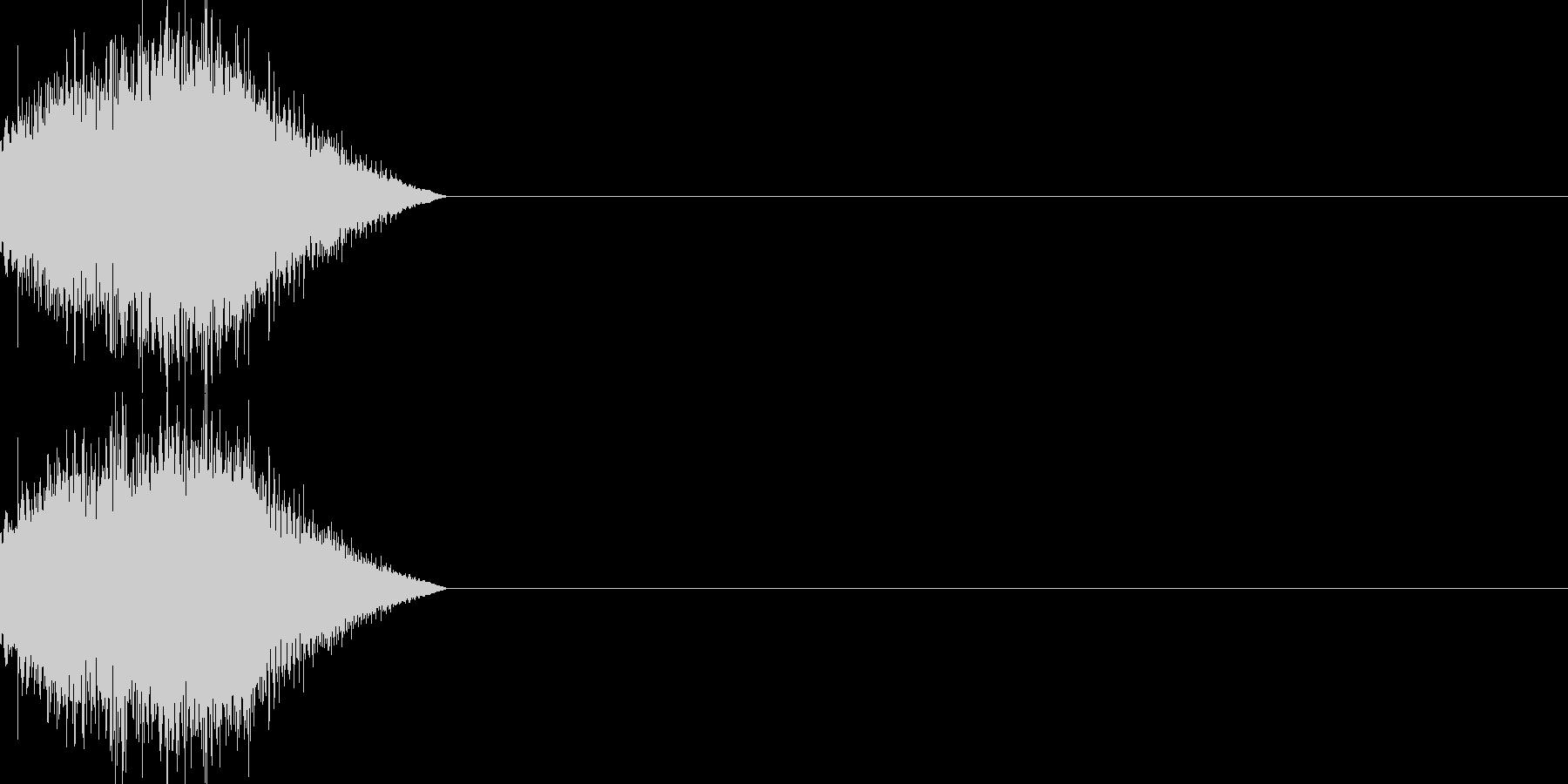 魔法 レベルアップ キラキラキラーンの未再生の波形