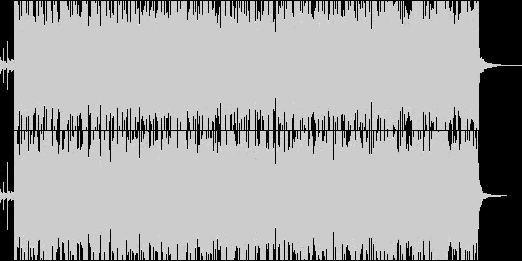 激しめのインスト曲の未再生の波形
