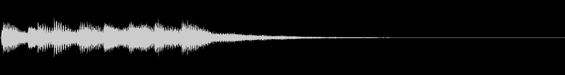 【ロゴ、ジングル】ピアノ02の未再生の波形