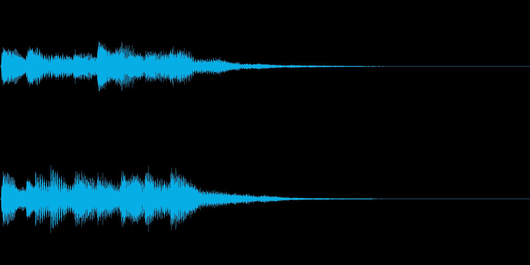 【ロゴ、ジングル】ピアノ02の再生済みの波形