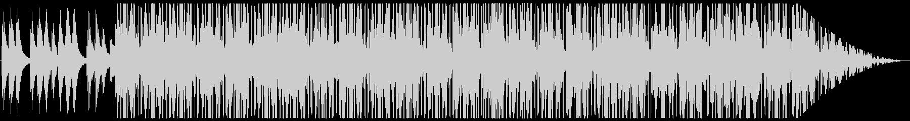 和の雰囲気を持ったヒップホップの未再生の波形