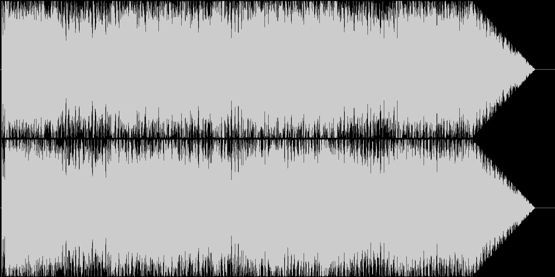 ロック調の中ボスバトル曲の未再生の波形
