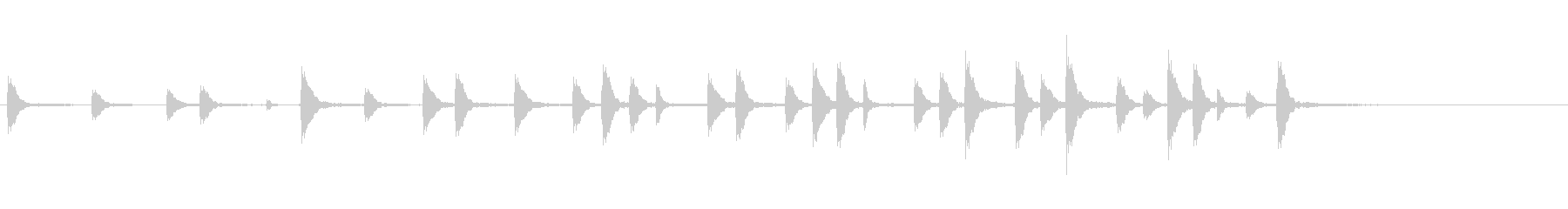 能や歌舞伎の小鼓のフレーズ音+FXの未再生の波形