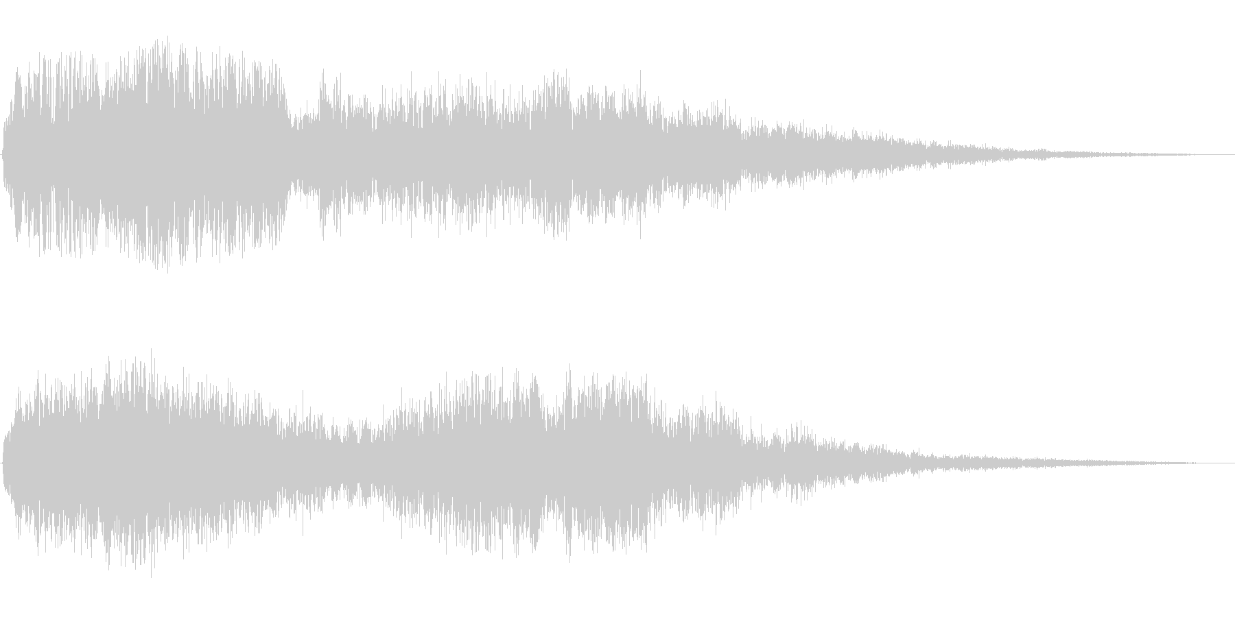 ブォァァン(悪い魔法をかけたような音)の未再生の波形