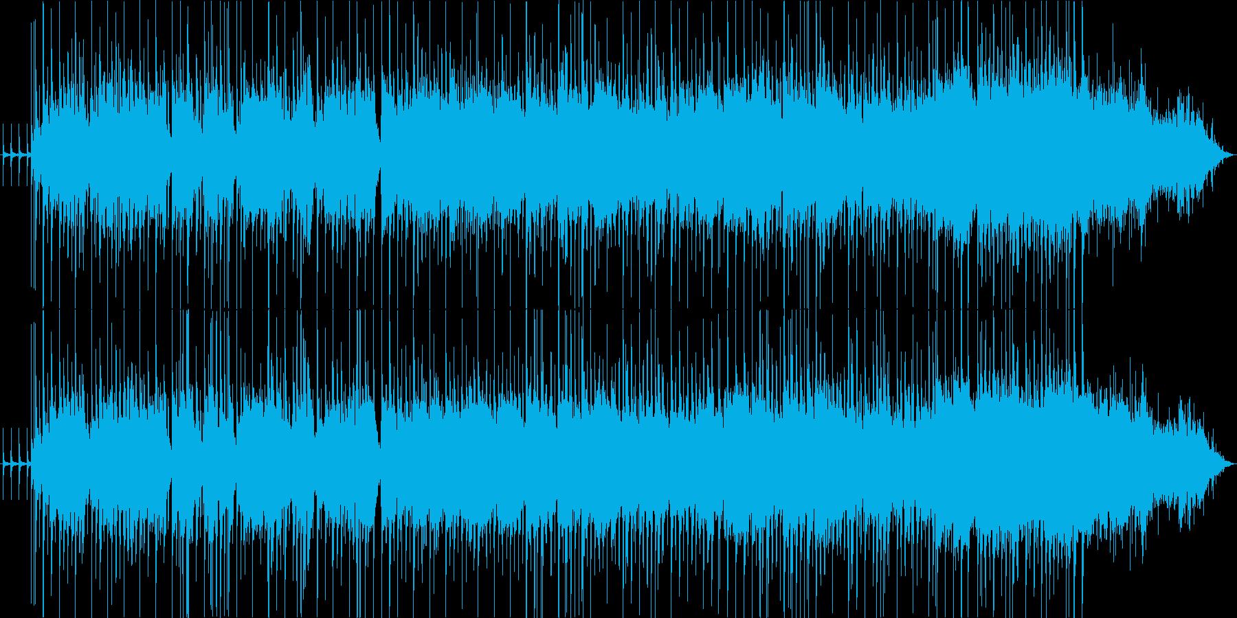 ファンキーな演奏に歓声と拍手の再生済みの波形