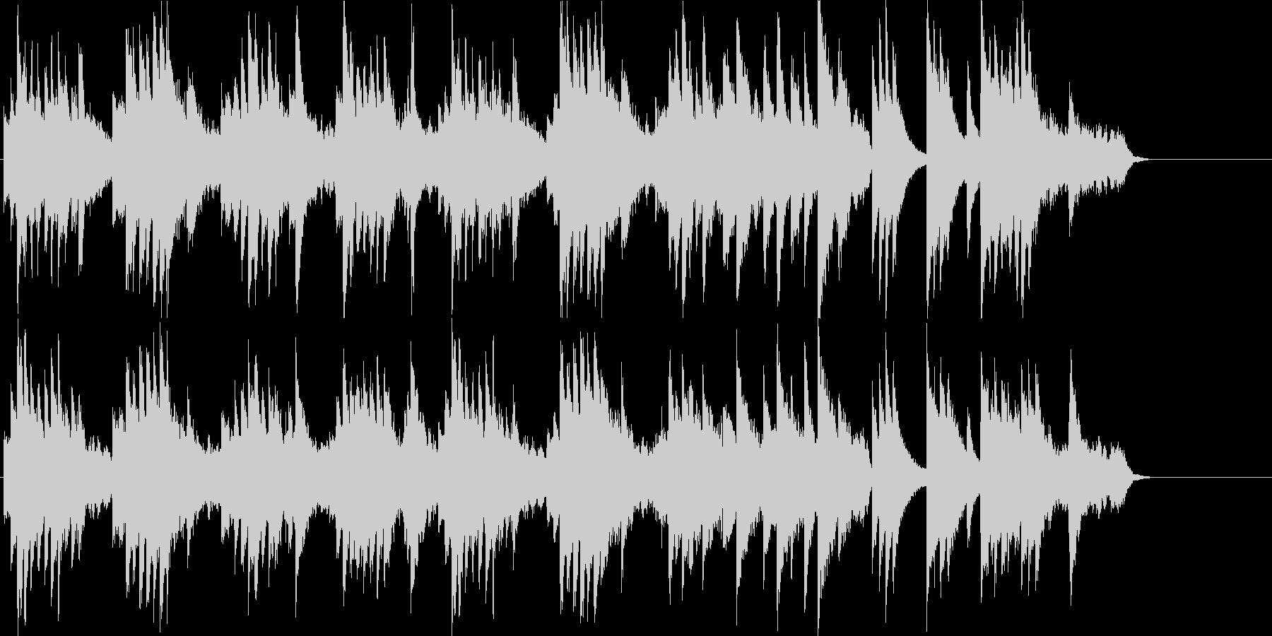 爽やかなゆったりとしたピアノソロの未再生の波形