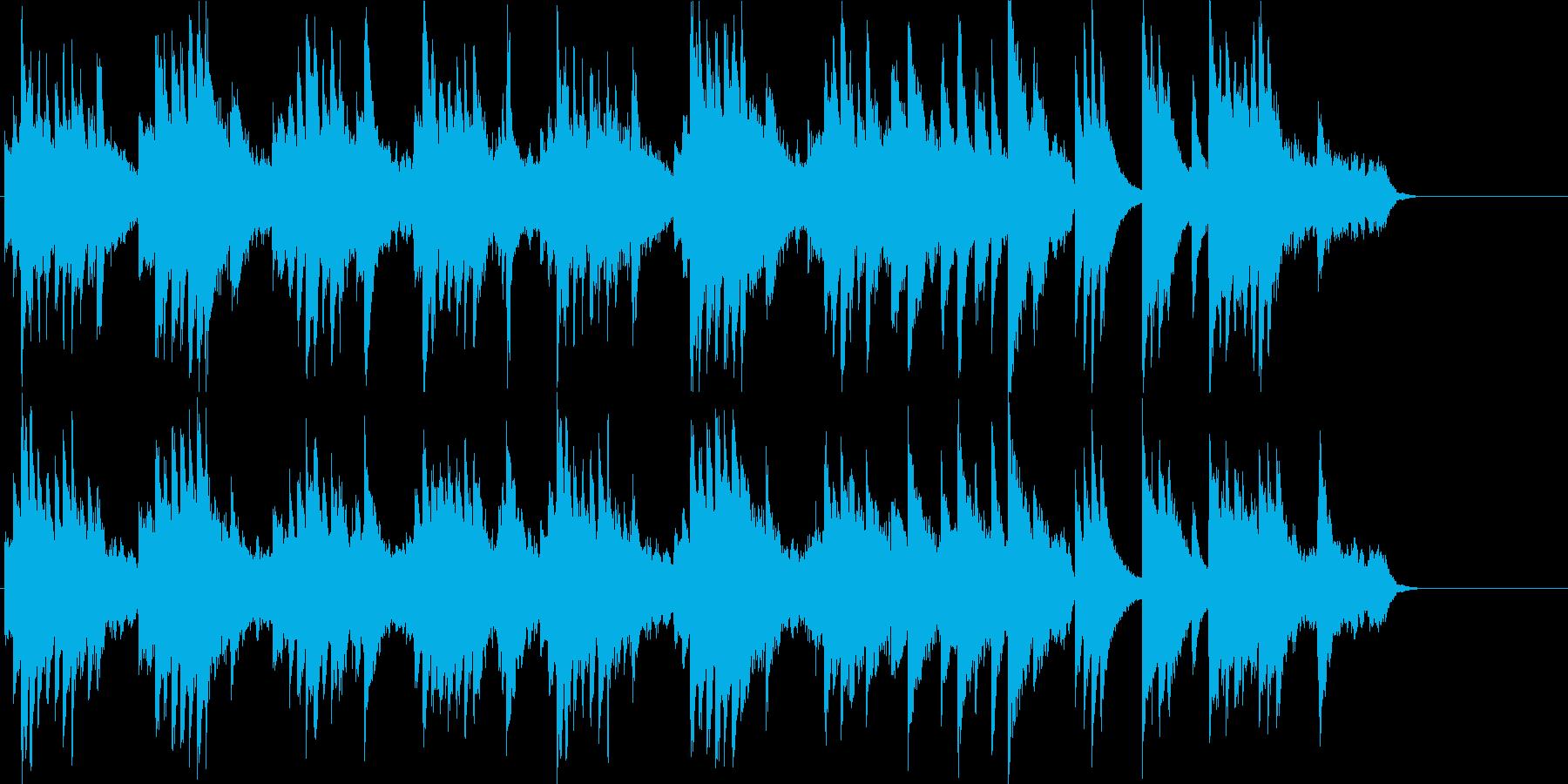 爽やかなゆったりとしたピアノソロの再生済みの波形