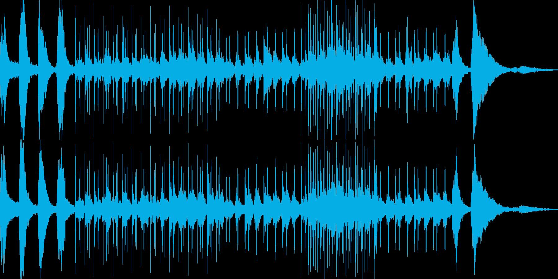 ダウンビートなヒーリングミュージックの再生済みの波形