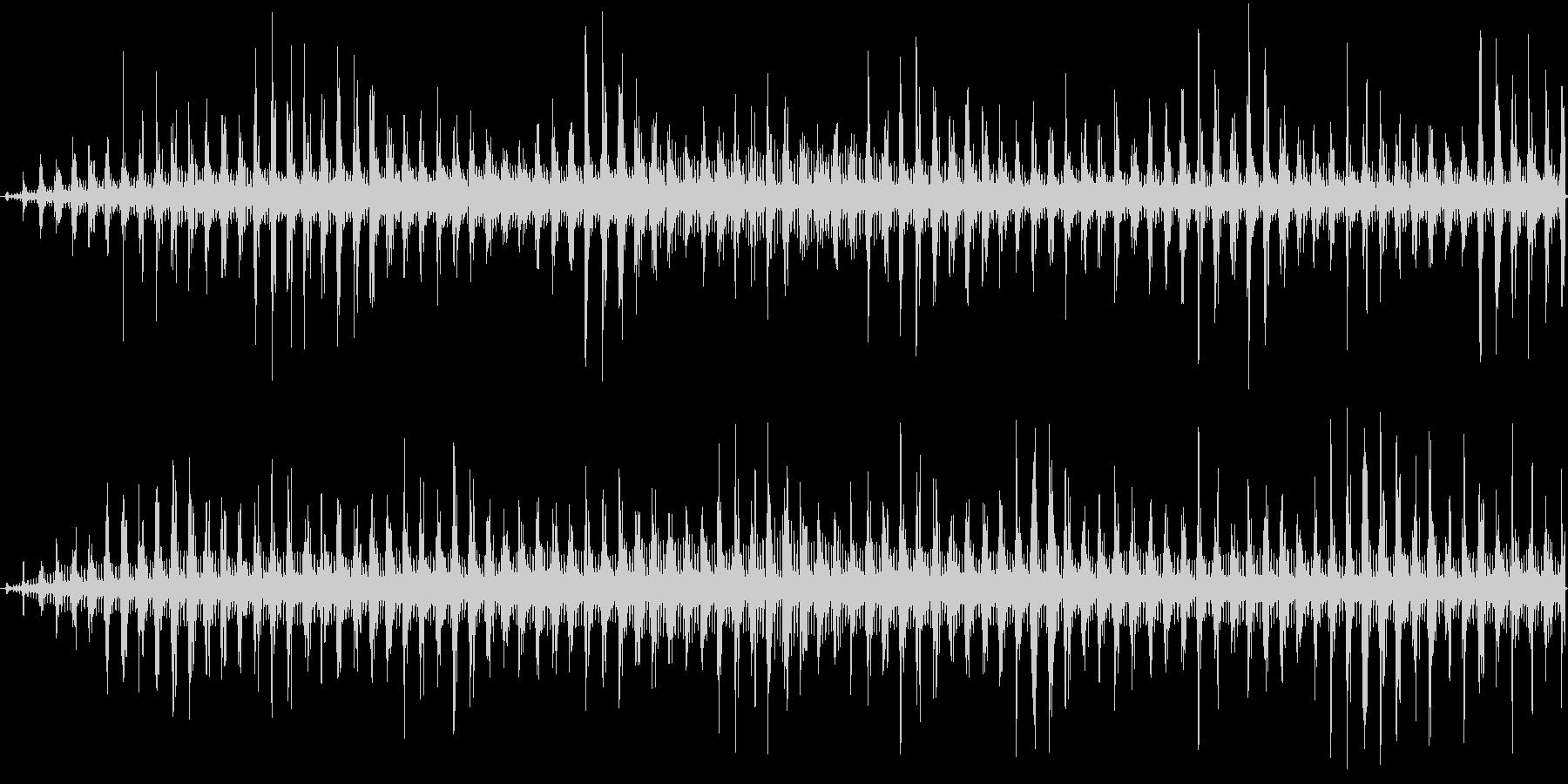 ヘリコプターの音の未再生の波形