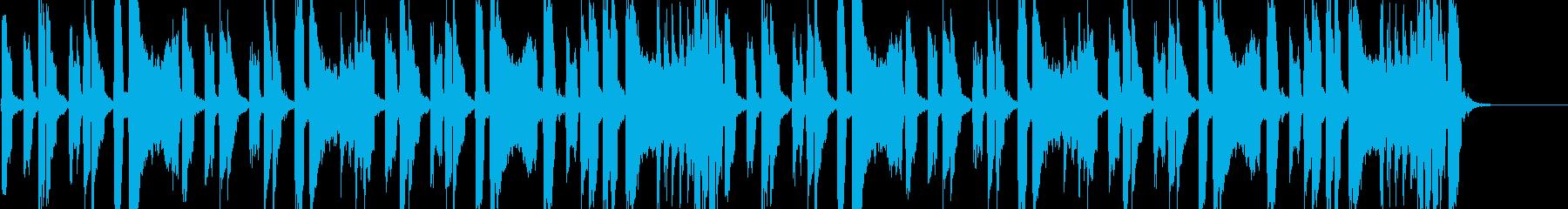 怪しげでコミカルな雰囲気 アニメ調BGMの再生済みの波形