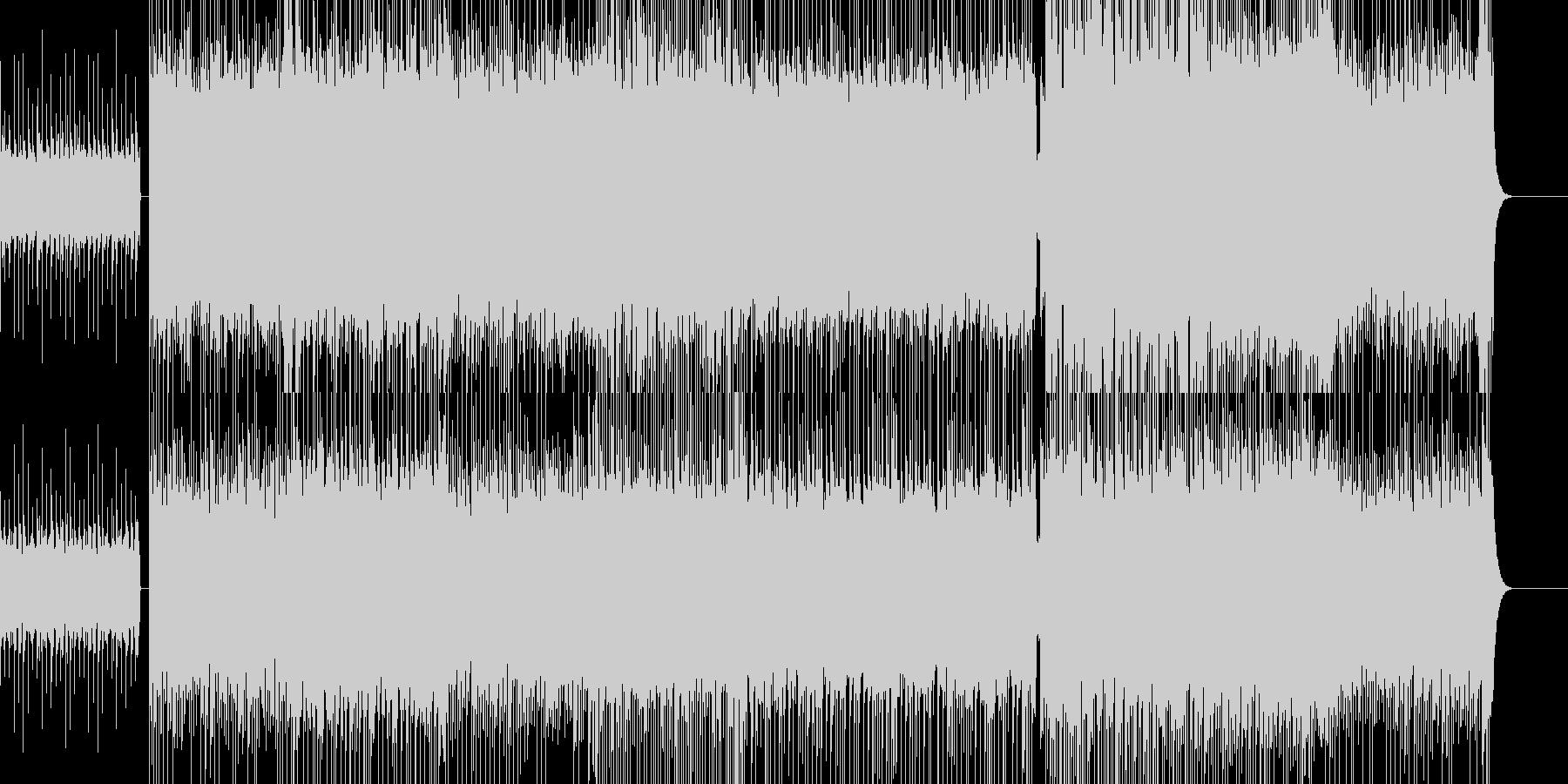 攻撃的なメタルBGMの未再生の波形