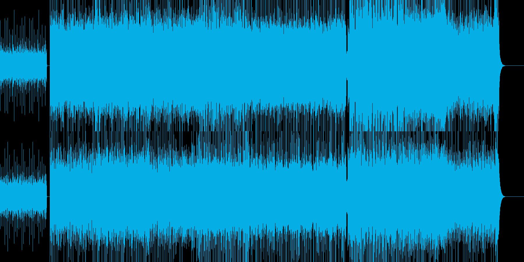攻撃的なメタルBGMの再生済みの波形