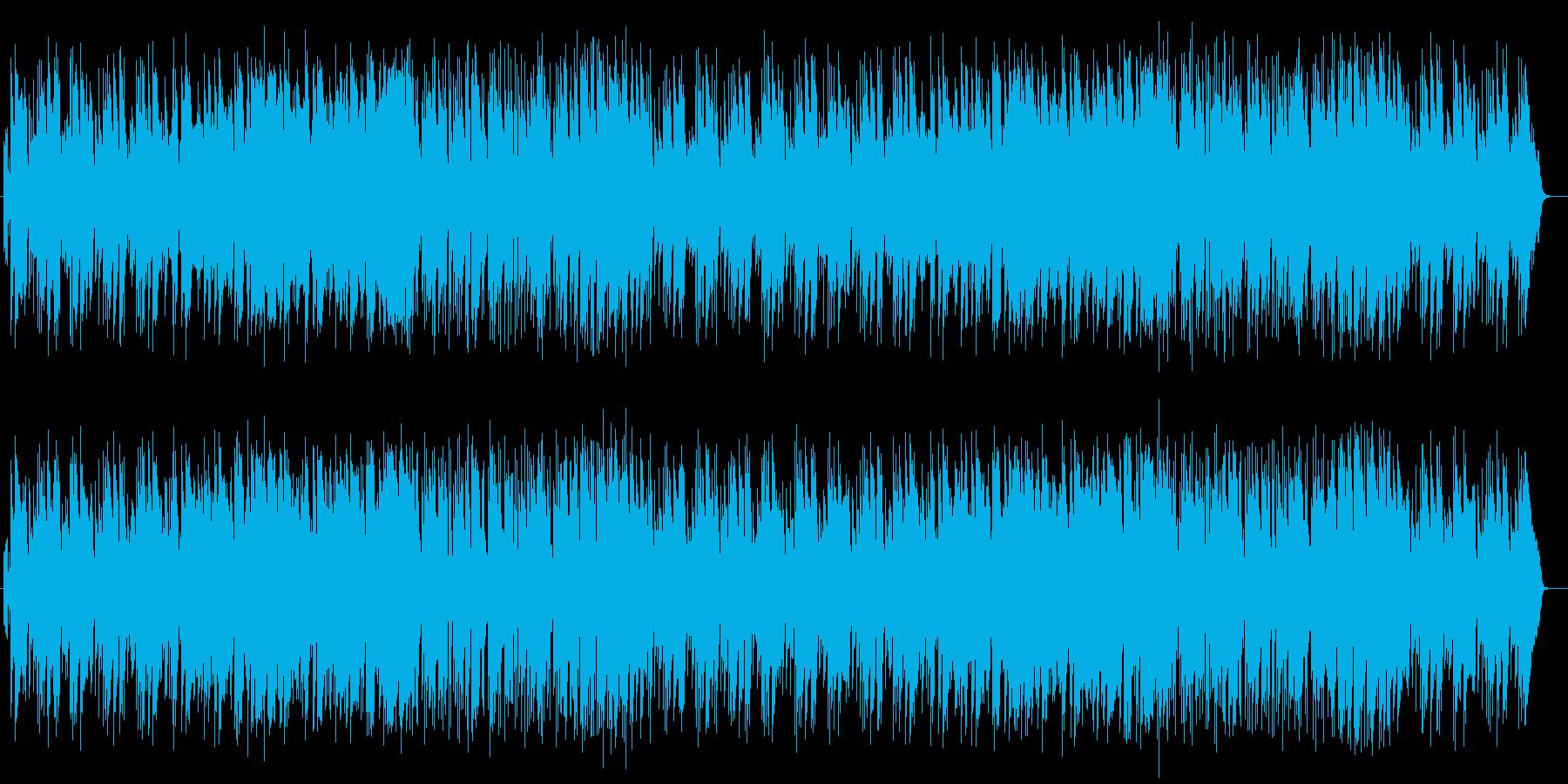 ゆったりとした明るいミュージックの再生済みの波形