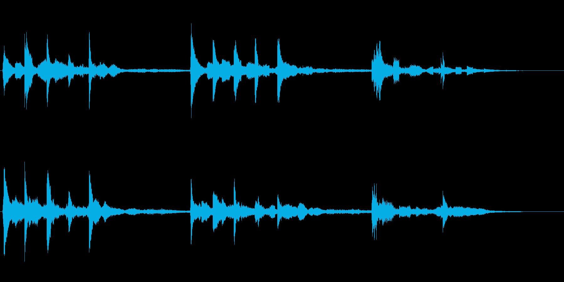 星の世界 透明感のあるファンタジーな音の再生済みの波形
