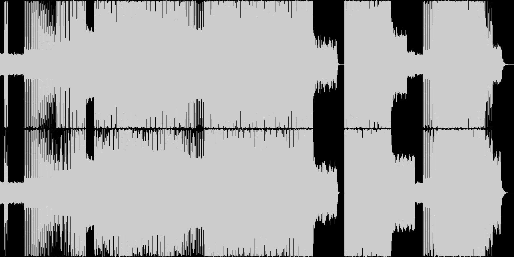 ノリがいいBGMの未再生の波形