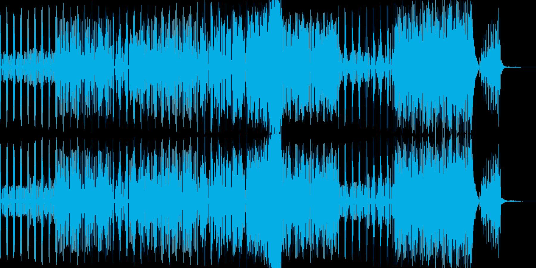 ピアノの旋律とコーラスが爽快なポップスの再生済みの波形