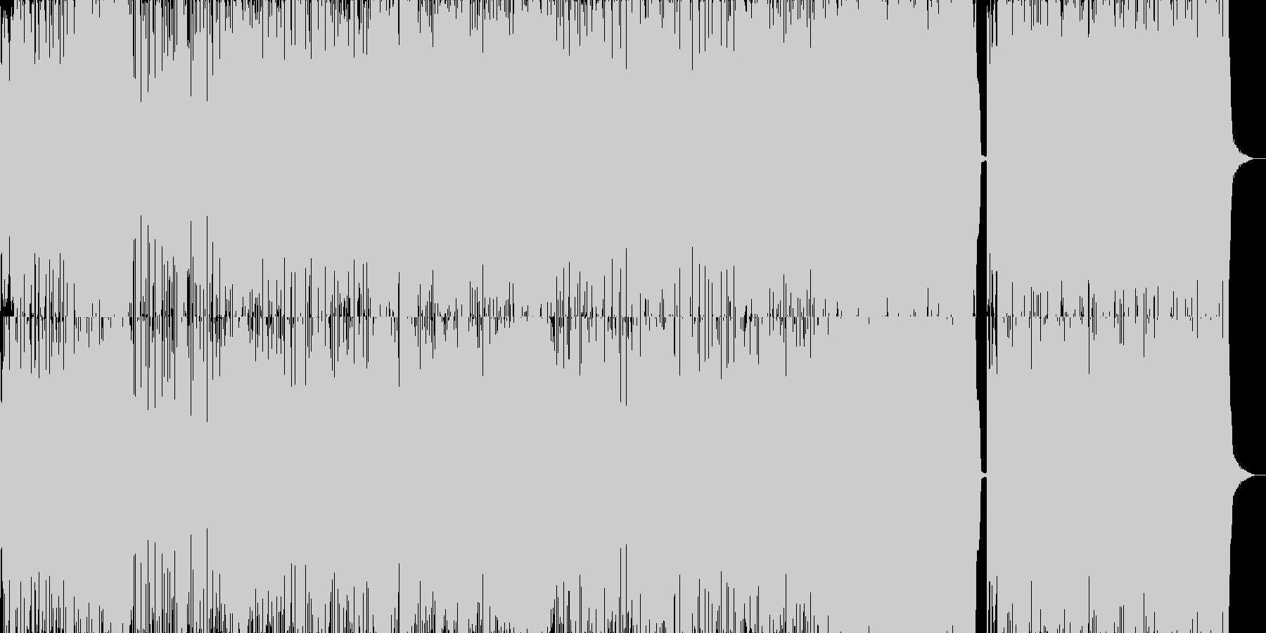 ファンキーでご機嫌な忙しないポップスの未再生の波形
