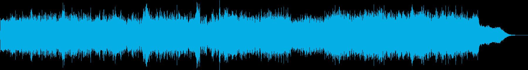 激しめのギター曲の再生済みの波形