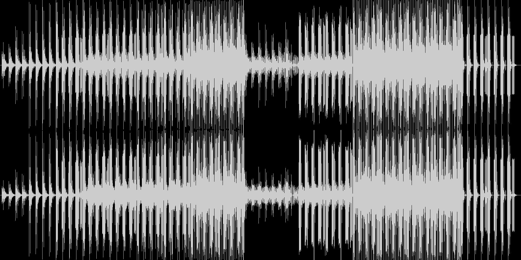 叙情的なアンビエント系EDMの未再生の波形